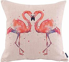 Pink Watercolor Flamingo Home Decor Sofa Car Seat