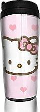 Pink Wing Hello Kitty Reise-Kaffeebecher,