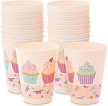 Pinke Kunststoffbecher für Cupcakes,