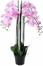 Pinke Orchidee 115cm XXL Pflanze Rosa Kunstblume Kunstpflanze Dekoration Blume Dekoblume