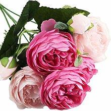 Pinke Rose Künstliche Blumen Kunstblumen Unechte