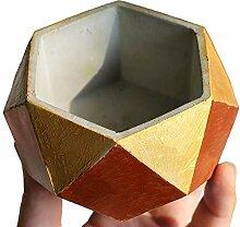 Pinkie TM 6Creative Polygon Vase Übertopf Beton