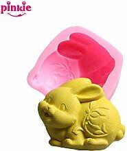 Pinkie TM Pinkie Silikonform Ostern Bunny 3D Modus Zodiac Kaninchen Dekoration Seife annimal Silikon Formen Formen für Seife