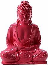 Pinks Boutique Buddha Statue aus Kunstharz, Pink