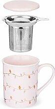 Pinky Up 9500 Annette Lights Pink Ceramic Tea Mug