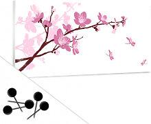 Pinnwände - Memoboard Kirschblüten inkl. 5