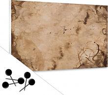 Pinnwände - Memoboard Old Paper inkl. 5 Pinnadeln