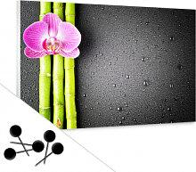 Pinnwände - Memoboard Orchid and Bamboo inkl. 5 Pinnnadeln