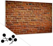 Pinnwände - Memoboard Ziegelsteinmauer inkl. 5 Pinnadeln