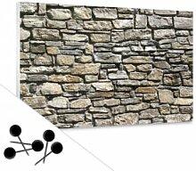 Pinnwände - Pinnwand Natursteinmauer inkl. 5