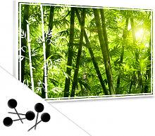 Pinnwände - Pinnwand Sonnenschein im Bambuswald
