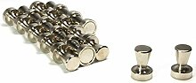 Pinnwand Magnete Bürobedarf starke Neodym Supermagnete Kegelmagnete aus massivem Stahl 20 Stück 15x21mm DonDo