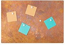 Pinnwand Memoboard Magnettafel 60x40 Rost PW10
