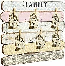 Pinnwand Tafel Memoboard Vintage used-Look rosa