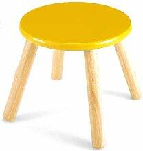Pintoy Kinderhocker aus Holz, gelb