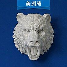 PinWei_ Amerikanische kreative Stereo-Wand-tierischen Kopf tierische Wandsticker Wand Dekoration bar,Amerikanische D tragen