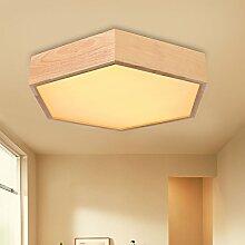 PinWei_ Holz Lampe hölzerne kreative Wohnzimmer führte japanisches hölzerne skandinavische Schlafzimmer Deckenleuchte , large (500*80mm))