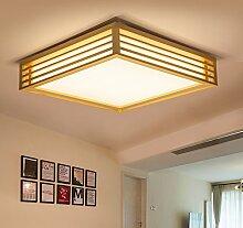PinWei_ Holz Lampe minimalistische Holz kreative Wohnzimmer führte japanisches hölzerne skandinavische Schlafzimmer Deckenleuchte , medium(55*55cm)
