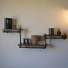 PinWei Home Rustikale Schmiedeeisen Wand Regal