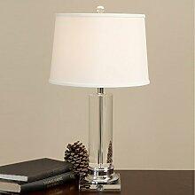 PinWei_ K9 Kristall Tisch Lampe moderne minimalistische kreative Luxus Hotel Schlafzimmer Wohnzimmer Kunst Tischleuchte 360 * 630mm