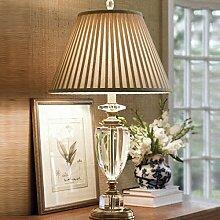 PinWei_ Kreative Luxus Kristallkugel Tisch Lampe Schlafzimmer Wohnzimmer Kunst Tischleuchte,40cm 70cm