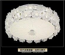 PinWei@ LED-Deckenleuchte, Kristall Lampe, Runde Deckenleuchte,18 * 50cm weiß 36W