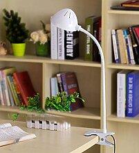 PinWei@ LED-Schreibtisch-Lampen, Tischlampen, Auge Schutz Schreibtischlampe Lampe clip,Weiß