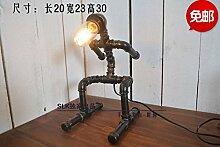 PinWei_ Loft-Stil Industrierohre kreative Roboter Lampe
