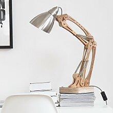 PinWei@ Nordischen kreative Tisch Lampe Höhe verstellbare Schreibtischleuchte, Tischleuchte, Wohnzimmer Swing Arm Tischlampe ,Silber