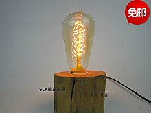 PinWei_ Retro-Holztisch Lampen