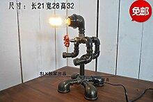 PinWei_ Rohr-Roboter-Lampe-Café-Bar dekoriert die Schlafzimmer-Tischleuchte