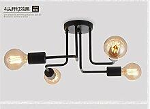 PinWei@Spinnen, speichern Geckos Decke Lampe, Coffee-Shops/Bekleidung, Wohnzimmer Deckenleuchten, gebogene Rohr Deckenleuchte Deckenleuchte,4 Kopf