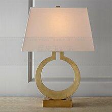 PinWei_ US-amerikanischer Country retro Ring gold Eisen Eisen Kunst Lampe Art Bett Wohnzimmer Tischlampe 360 * 550mm