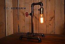 PinWei_ Vintage Eisen industrielle Tisch Lampe amerikanischen Dorf Loft Tischlampe,220 * 340mm