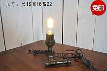 PinWei_ Vintage Rohr Lampe Cafe eingerichtet Dachboden industrielle kreative Tischleuchte