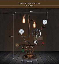 PinWei@ Wasser-Röhrenlampen, bar Dekoration Lampe, LOFT-Stil Kunsthandwerk Tischleuchte