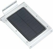 Pinzhi 46 LED Kabellose Außenleuchte / Wandleuchte / Solarleuchte / Wand Solarlampe mit Bewegungsmelder und Dämmerungsschalter für Garten