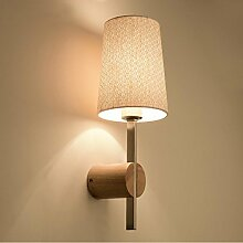 PIO Stoff Lampenschirm Wandleuchte Nordic Holz