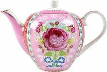 PiP Studio - Teekanne - Porzellan - pink/rosa -