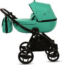 Piquetto Uni Knorr-Baby Kinderwagenset Smaragdgrün
