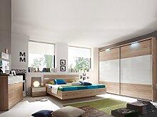 PIRA Komplett-Schlafzimmer San Remo hell/weiß Glanz