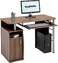 piranha kompakter computer schreibtisch mit schrank und regalfach in schwarz pc 1w - Kompakte Computerschreibtische Fr Zuhause