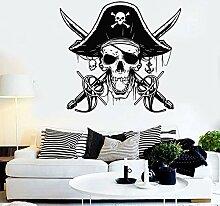 Pirate Sabres Schädel Kapitän Sea Wall Aufkleber