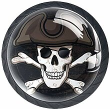 Pirate Skull Crossbone Türschublade Zuggriff