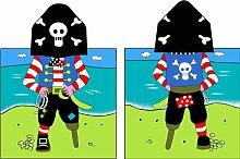 Piraten Kapuzen-Poncho Handtuch