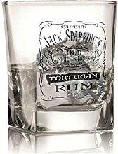 Piraten-Rum-Glas, inspiriert von Jack Sparrow