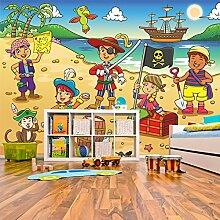 Piraten Szene Wandbild Piratenschiff Foto-Tapete Kinderzimmer Wohnkultur Erhältlich in 8 Größen Mittel Digital