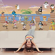 Piraten Wandbild Piratenschiff Foto-Tapete Kinder Schlafzimmer Haus Dekor Erhältlich in 8 Größen Extraklein Digital