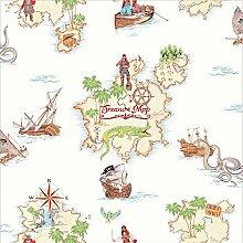 Pirates Ahoy Tapete weiß Arthouse 696107