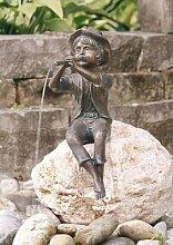 Pirmin Bronzefigur Skulptur aus Bronze echte Handarbeit Gartenskulptur Gartenfigur Garten-Statue